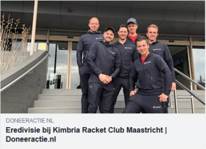 Eredivisie bij Kimbria Racket Club!